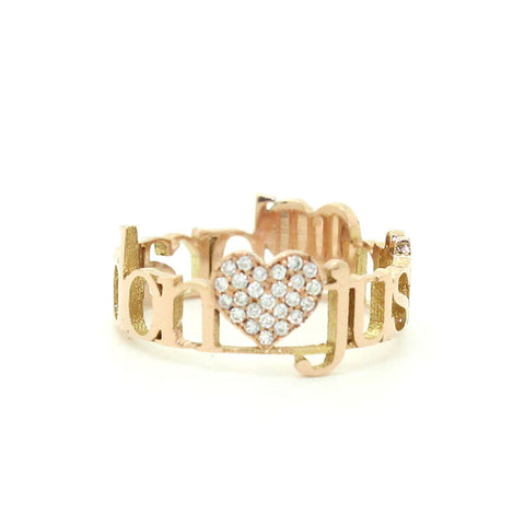 Classic 2 Loves Pave Diamond Ring