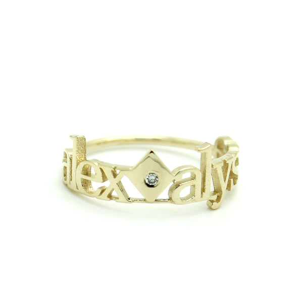 Classic 2 Rhombus Diamond Ring