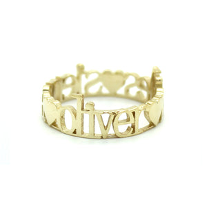 14K GOLD CLASSIC 3 LOVES RING