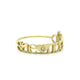 14K GOLD CLASSIC 3 LOVES DIAMOND RING
