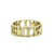 14K GOLD CAPS 2 STAR RING