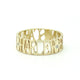 14K GOLD CAPS 3 HAMSA DIAMOND RING