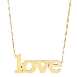 GOLD LOVE NECKLACE, G. ROCK L.A X JENNIFER LOVE HEWITT