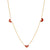 14K GOLD ENAMEL HEART NECKLACE