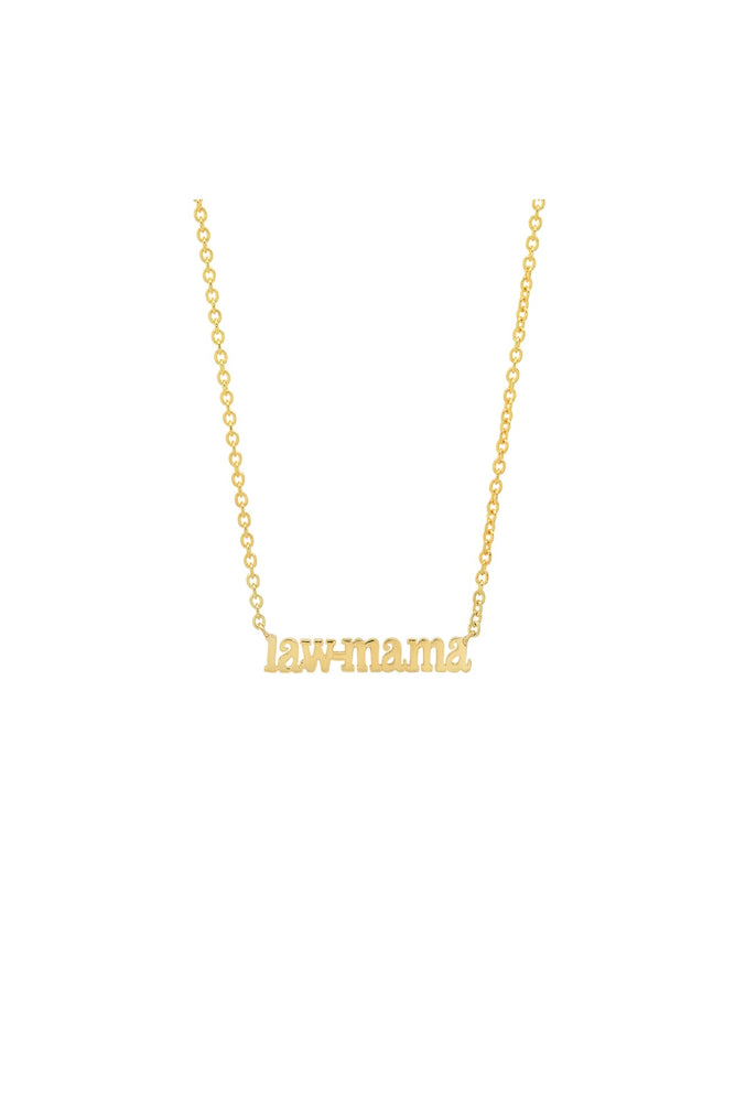 LAW MAMA MINI NAME NECKLACE
