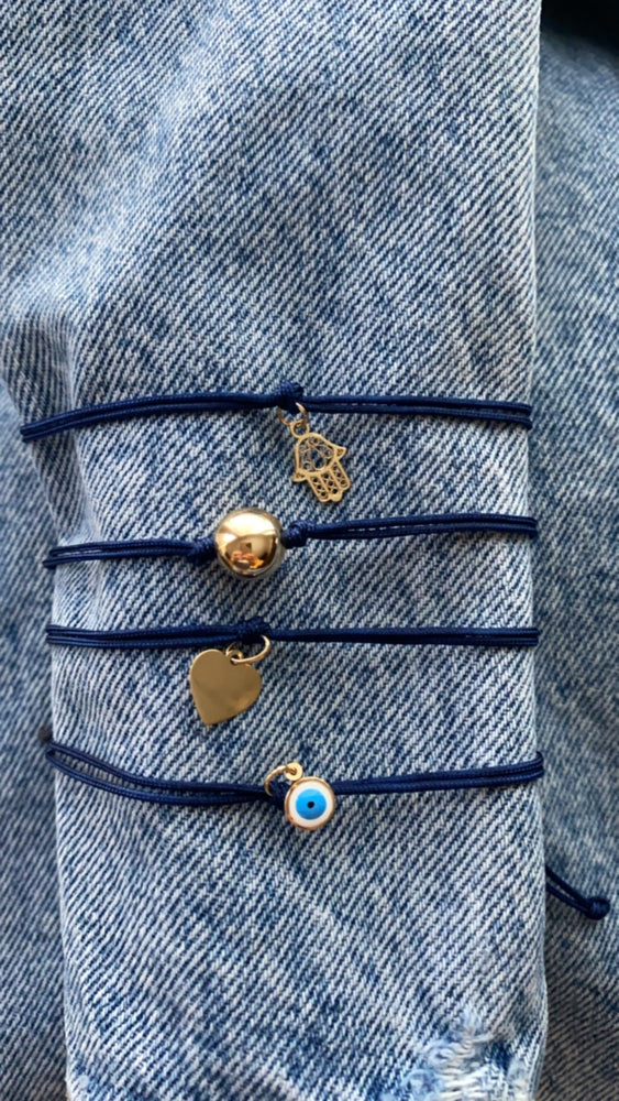 Load image into Gallery viewer, Blue Charm Bracelet