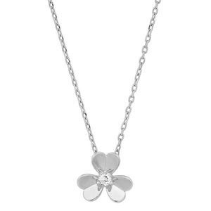 GOLD FLOWER PENDANT NECKLACE