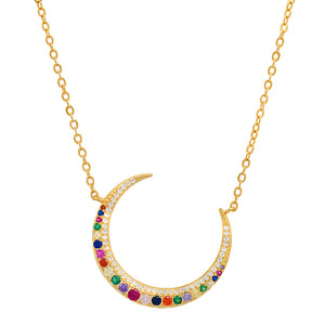 Multi Color Moon Necklace