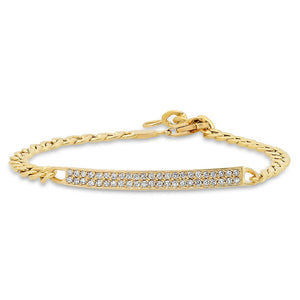 18K GOLD CUBAN LINK DIAMOND IS BRACELET