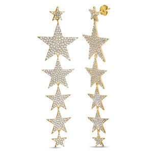 Large 5 Star Earrings