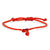 GOLD RED HEART ENAMEL PROTECTION BRACELET