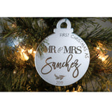 FIRST XMAS AS MR & MRS ORNAMENT