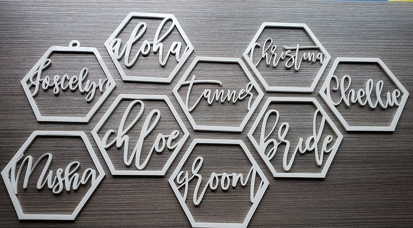 GEOMETRIC PLACE CARDS - CUSTOM