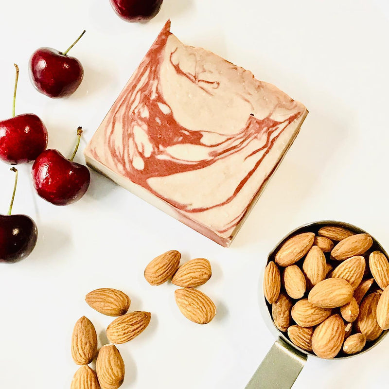 Cherry Almond Soap Slice