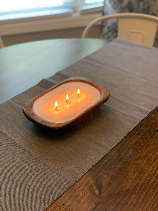 3 Wick Dough Bowl Candle - Brown