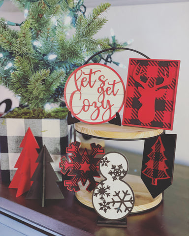 RTS {Let's Get Cozy} Tiered Tray Decor