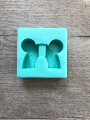 MTO {Mouse Ear Rainbow} Straw Topper Mold