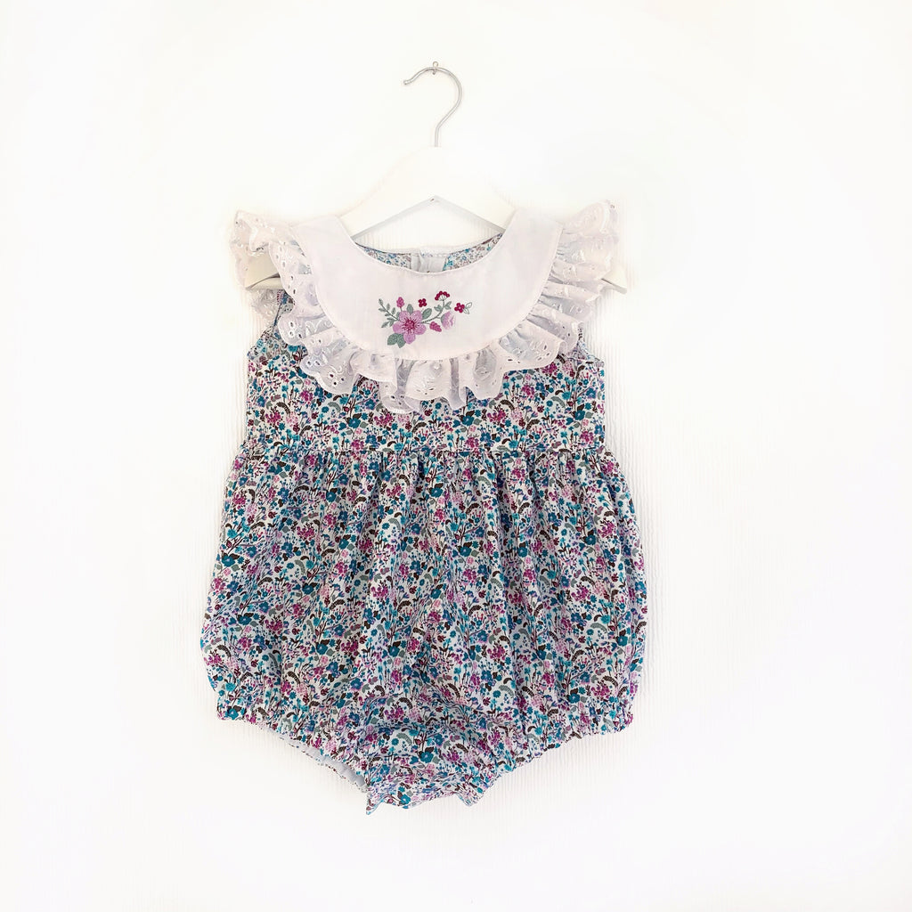 Wild meadow lace bibbed; dress or romper