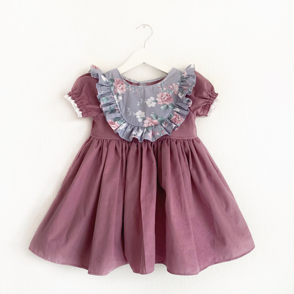 Lavender bib romper or dress