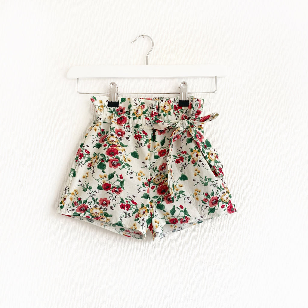 Cottage garden paper bag shorts