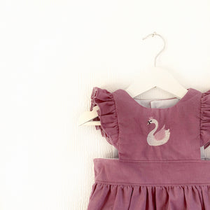 Swan pinafore; dress or romper