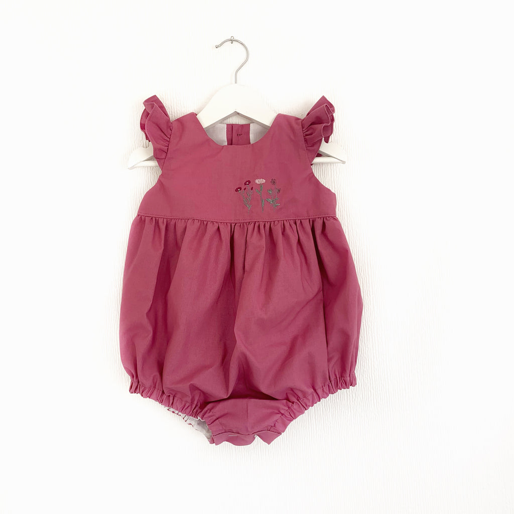 Rose flower trio; dress or romper