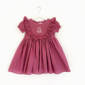 Rose bunny frill; romper or dress