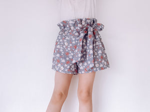 Rusted rose paper bag shorts