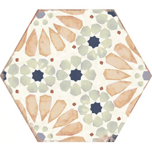 Load image into Gallery viewer, Bohemia Hexagon Tile in Hanna 8x10