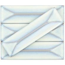Load image into Gallery viewer, Byzantine Alice Blue 3D Ceramic Subway Tile