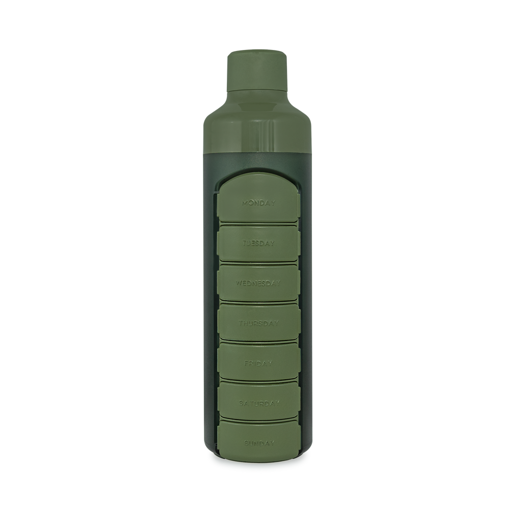 YOS Bottle Weekly - Camo Green - YOSHealth