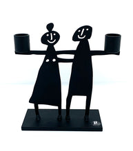 Load image into Gallery viewer, The Harley Gallery Online Shop // Couple design metal candle holder