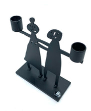 Load image into Gallery viewer, The Harley Gallery Shop Online // Black metal double candle stick