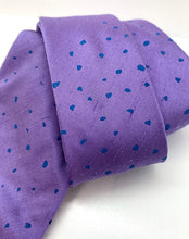 Load image into Gallery viewer, Jane Keith Designs - Purple and Blue Spot Silk Tie
