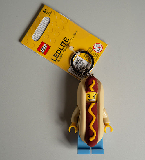 The Harley Gallery Shop Online // Hot Dog Guy Key Ring LEGO UK