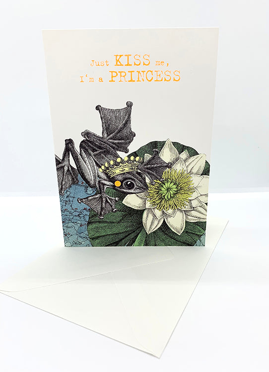 The Harley Gallery Online Shop // Princess Frog - Illustrative Greeting Card