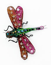 Load image into Gallery viewer, The Harley Gallery Shop Online // Colourful dragonfly pin brooch - wire and beading