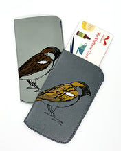 Load image into Gallery viewer, The Harley Online Gallery Shop // Grey leather brid card pouch