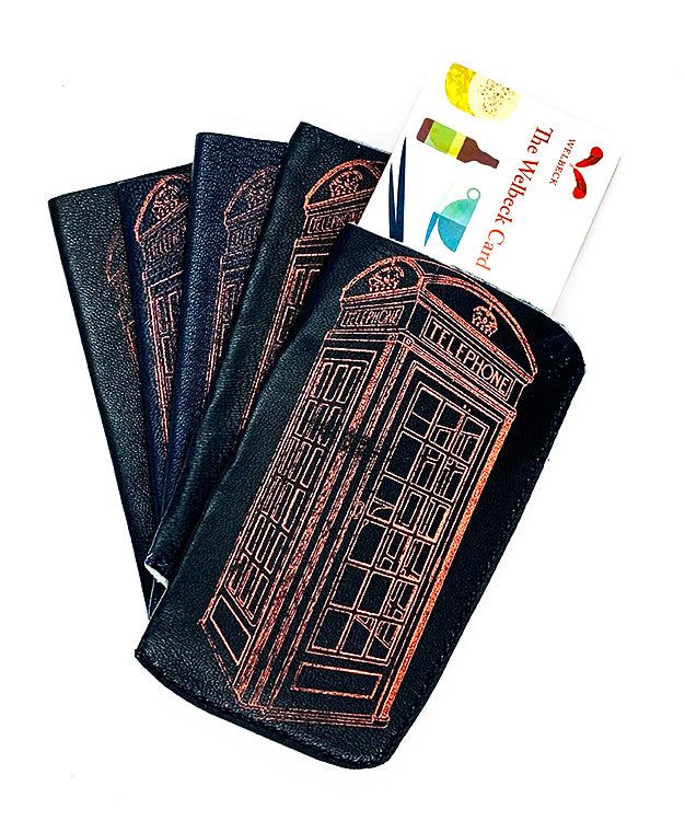 The Harley Gallery Shop ONline // Quirky gift - leather phone box design card wallet