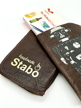 Load image into Gallery viewer, The Harley Gallery Shop Online // Hand made by Stabo leather robot card pouch