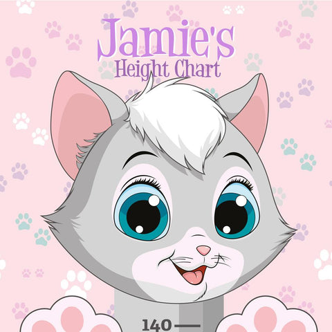 Height Charts (Cats) (personalised)