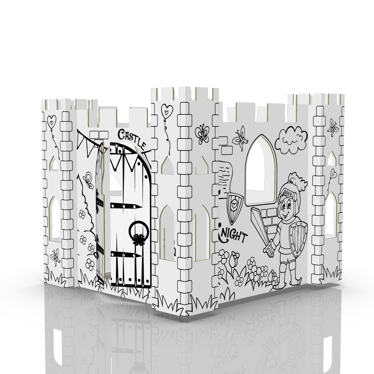 COLOUR-IN MINI CASTLE