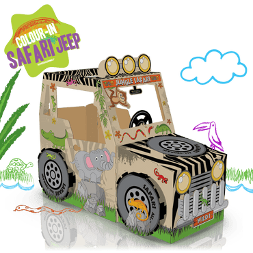 COLOUR-IN SAFARI JEEP