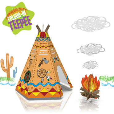 COLOUR-IN TEEPEE