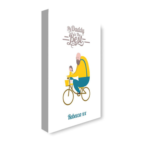 Daddy Is Best Bicycle (personalised)