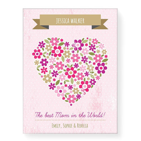Love Heart Flowers (Personalised)