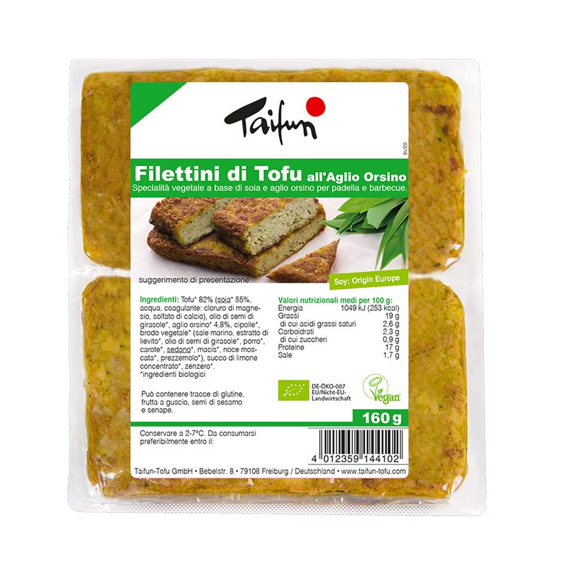 Filettini di tofu all'aglio orsino, 160 g