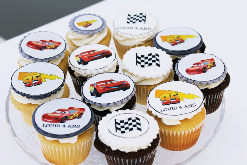 Flash Mc Queen cupcakes