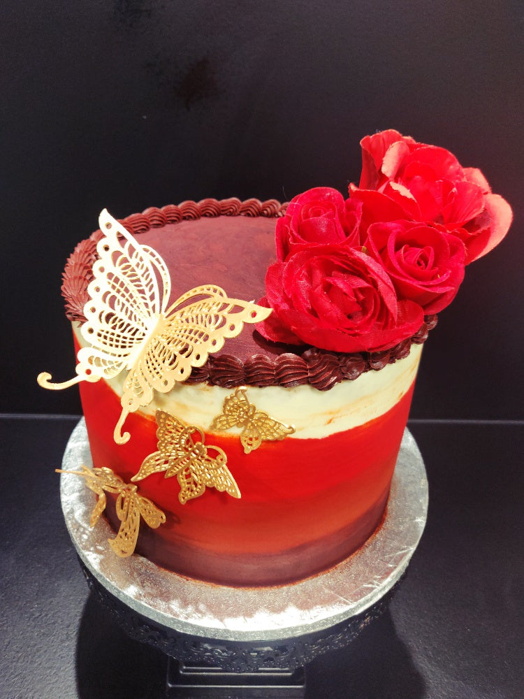 Passion Butterfly Red cake