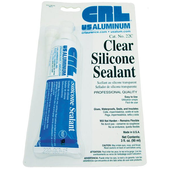 CRL 3 oz Clear Silicone Squeeze Tube